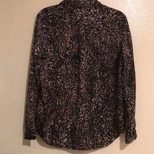 Leopard print long sleeve shirt